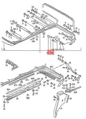 Genuine Volkswagen Clip NOS Rabbit Golf Cabrio 15 155871377