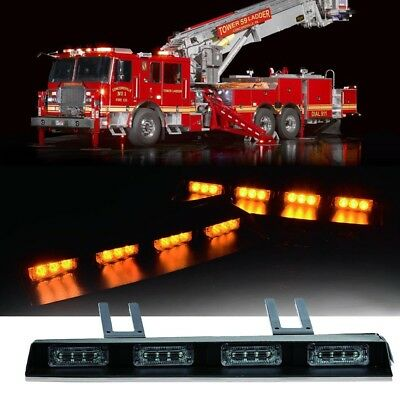 "17"" 24 LED Emergency Traffic Advisor Strobe Light Bar Flash Amber Yellow truck"