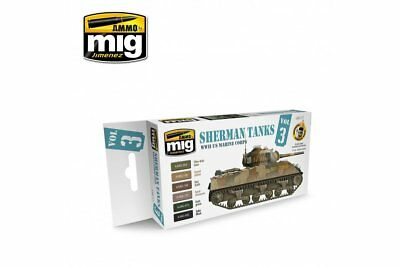 AMMO OF MIG A.MIG-7171 Set Sherman Tanks Vol. 3 (WWII US Marine Corps) 6x17ml