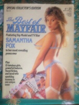 The Best Of Mayfair Vintage Men's Glamour Magazine Featuring Samantha Fox No 5