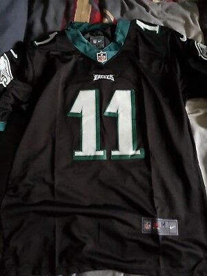 brand new 06862 381b1 BNWT CARSON WENTZ Philadelphia Eagles 2017/2018 NFL colour rush jersey L