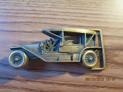 Vintage 1978 Antique Automobile Car Sold Brass Baron Buckle