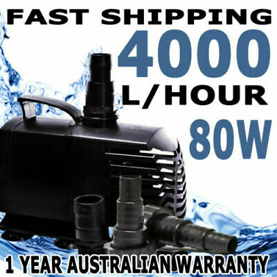 4000LPH Submersible Aqua Aquarium Fountain Pond Marine Water Air Pump Fish Tank
