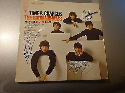 The Buckinghams Signed  Time and Charges Album Tufano, Giammarese, Fortuna
