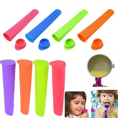 Silicone Push Up Ice Cream Lolly Popsicle Mould Mold DIY Popsicle Mould