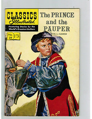 CLASSICS ILLUSTRATED COMIC No. 29 Prince and the Pauper  1/3 HRN 129