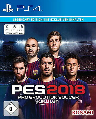 Pro Evolution Soccer 2018 Legendary Edition PS4 Neu & OVP
