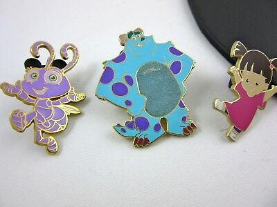Disney Monsters Inc & Pixar Movie Lot of 3 Pins Sully Boo 2004