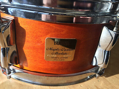 """Yamaha Maple Custom Absolute Snare 12"""" x 5"""" in Vintage Natural, s.guter Zustand."""
