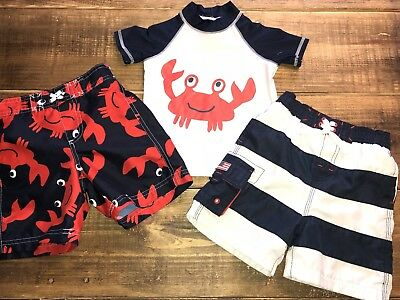 Boys 2t 24 Months Swimwear Set Carters Rash Guard Shorts Trunks Childrens Place