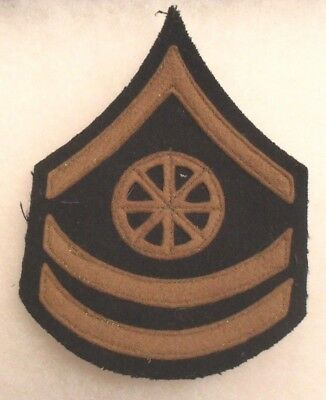 Rare 1920's Chevron For Army Transport Corps Specialist Brown Felt Sewn On Chevs