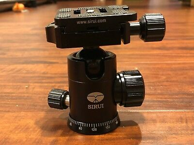 Sirui G-10KX Tripod Ball Head With 2 Extra Sirui TY-50X Quick Release Plate