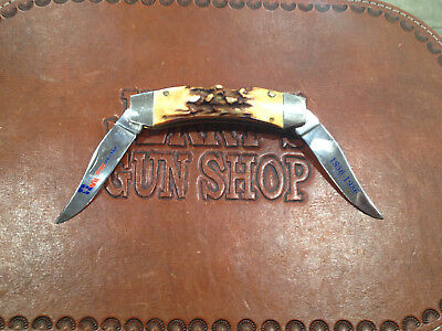 Limited Edition Case Knife 1836-1986 Sesqui Centennial  Texas Lockhorn Stagbone
