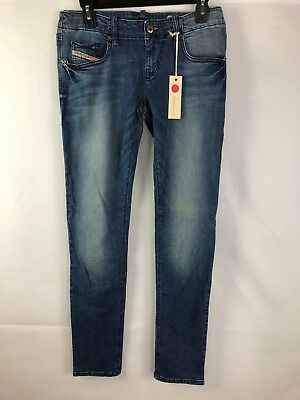 Diesel Grupee 0RZ07 Stretch Women Jeans Blue NWT Authentic Retail 188 USD