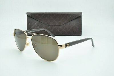 589b1f78a89 NEW AUTHENTIC GUCCI Aviator GG 4239 SUNGLASSES GG4239 S C. Brown W ...