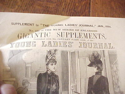 Jan 1888 Full Size Dress Pattern 14-16 yrs Young Ladies Journal Supplement #194