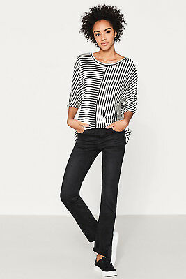 NEW Esprit Womens Soft stretch trousers with washed effects BLACK