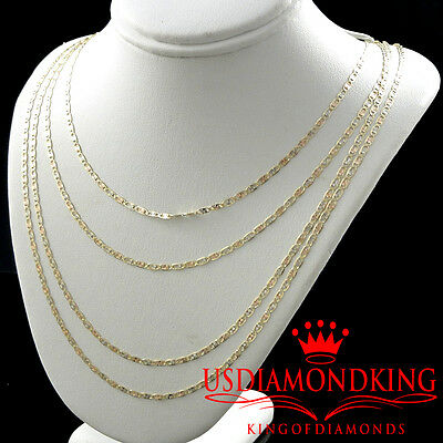 New Mens Ladies 14K Solid 3 Tone Gold Mariner Chain Necklace 2.5Mm 16~24 Inches