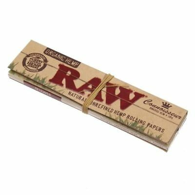 RAW Organic Connoisseur King Size Slim Rolling Paper - 1 PACK - Papers + Tips