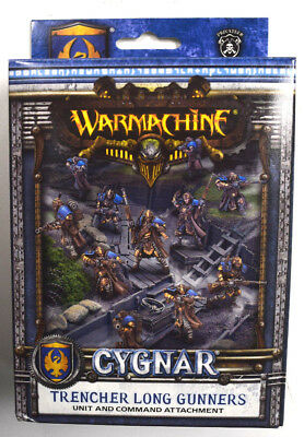 Warmachine Cygnar Trencher Long Gunners Unit & Command Attachment PIP 31133