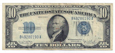 Fr1705 1934D The United States of America Ten Dollar Silver Certificate