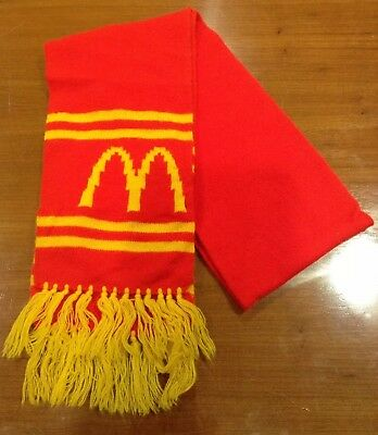 "Vintage McDonalds Collectible Golden Arches 63"" Winter Knit Scarf Excellent"