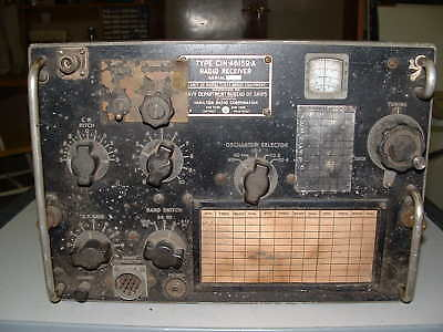 CIH-46159 TCS-13  RECEIVER  with NOISE LIMITER, TUBES, CRYSTALS looks UNMODIFIED