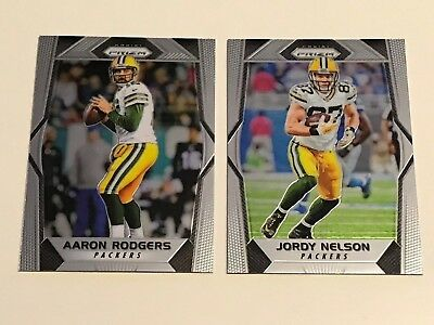 2017 Panini Prizm Green Bay Packers Rodgers Nelson