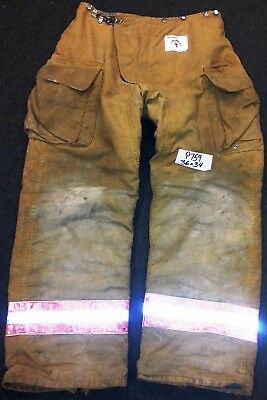 36x34 Firefighter Pants Bunker Fire Turn Out Gear Tan Brown Morning Pride P759