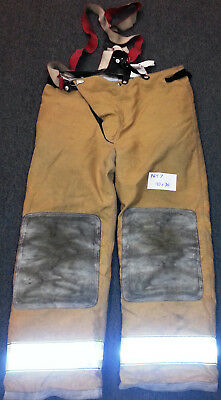 40x30 Pants With Suspenders Firefighter Turnout Bunker Fire Gear Globe P697