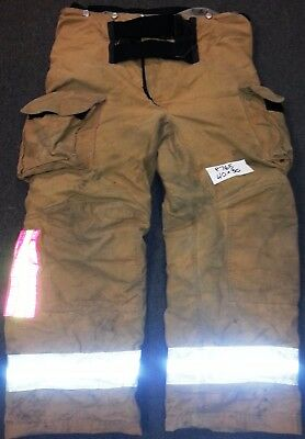 40x30 Firefighter Pants Bunker Fire Turn Out Gear Tan Brown Janesville P765