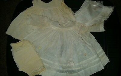 EARLY Century Composition Madame Alexander- Little Genius Tagged DRESS + More!