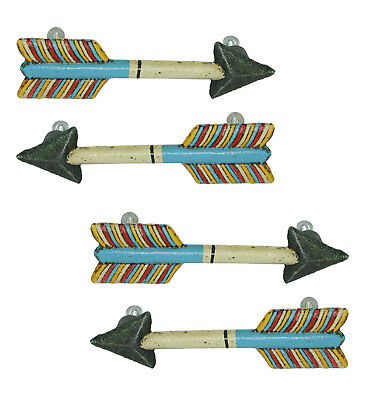 Set of 4 Colorful Metal Arrow Drawer Pulls Knobs - Rustic Western Decor