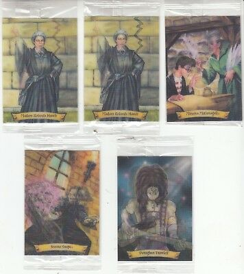Lot of 5 HARRY POTTER Chocolate Frog Trading Cards New in package NrMint