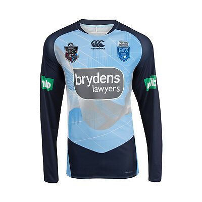 New South Wales Blues CCC 2018 Elite Long Sleeve Training T Shirt Size S-4XL!