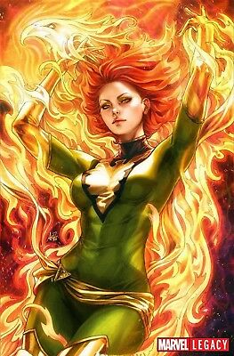 Phoenix Resurrection Return Jean Grey 1 Stanley Artgerm Lau 1:100 Green Variant