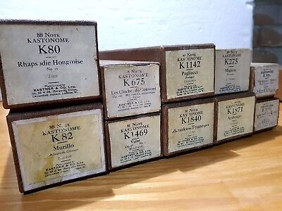 10 VINTAGE ANTIQUE PIANOLA ROLLS 88 NOTE - FREE DELIVERY - RARE  job lot 7