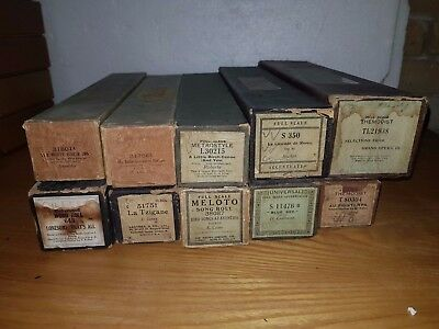 10 VINTAGE ANTIQUE PIANOLA ROLLS 88 NOTE - FREE DELIVERY - RARE  job lot 1