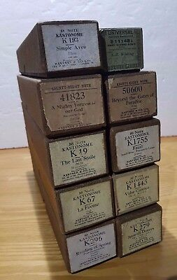 10 VINTAGE ANTIQUE PIANOLA ROLLS 88 NOTE - FREE DELIVERY - RARE  job lot 5