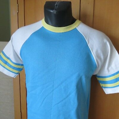 "Vtg ARTEX Athletic Ringer Tee T-Shirt SMALL USA . UNISEX. 36"" chest. eeuc"