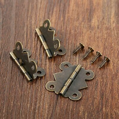 Vintage Furniture Butterfly Door Hinges Cabinet Dollhouse Jewelry Box Decorative