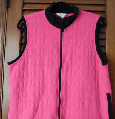 CJ Banks Neat Hot Pink Vest With Two Pockets Size X 14-16W