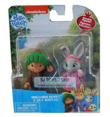 Peter Rabbit 2 Figure Kids Toy Pack Lily & Benjamin