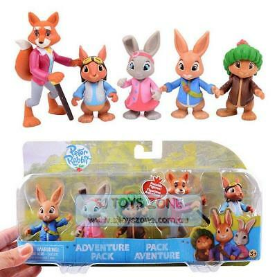 Peter Rabbit 5 Figure Adventure Pack Lily Benjamin Squirrel Nutkin Mr Tod Toy