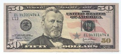 $50 Bill (Fifty Dollar) - Lightly Circulated Authentic - Quick Shipping Money