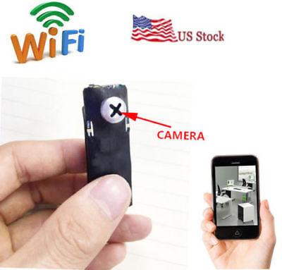 wireless spy IP WIFI mini DIY pinhole hidden nanny Screw micro HD camera dvr