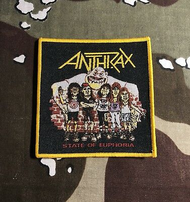 Anthrax State Of Euphoria Woven Patch A020P Slayer Testament Metallica Overkill
