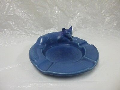 Rookwood Pottery Blue Fox ashtray shape # 2647