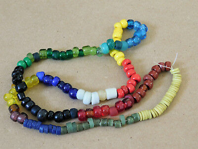 Mixed Lot of 145 Vintage African Prosser Krobo Padre Trade Beads_28""
