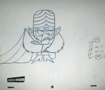 Original production Drawing- Power Puff Girls  (Cartoon Net)